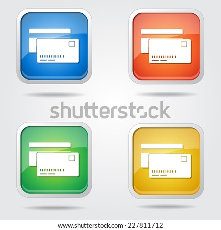 Credit Cards Colorful Vector Icon Design
