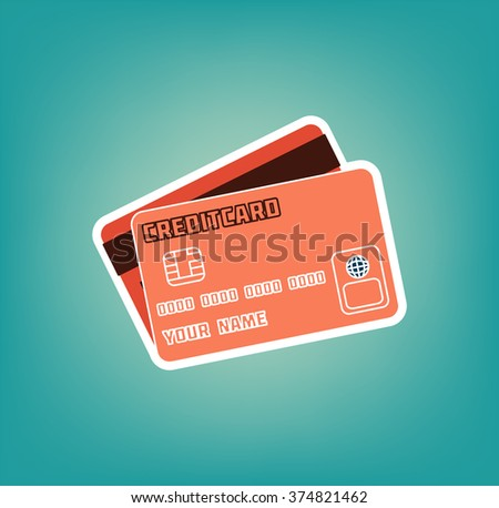 Credit Cards Icon. Vector Illustration