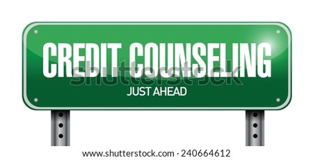 credit counseling sign illustration design over a white background - stock vector