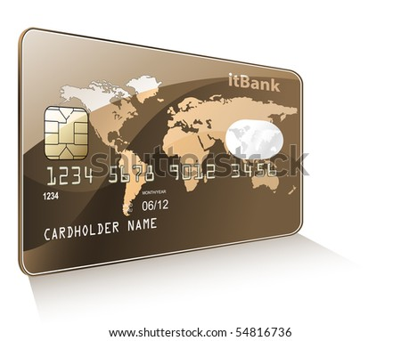 Credit or debit card. Payment concept. - stock vector