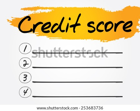 Credit Score Blank List, vector concept background - stock vector