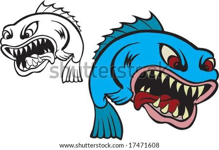 Creep fish - stock vector