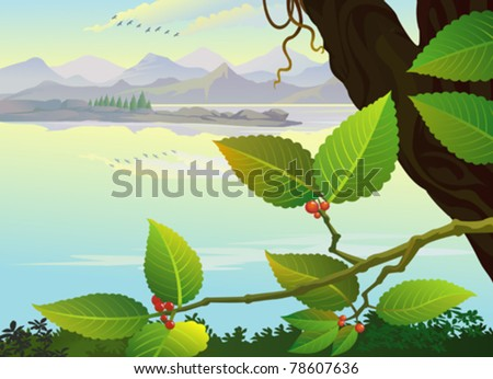 Creeper By The Lakeside - stock vector
