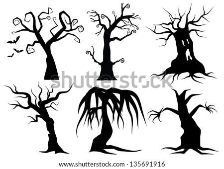 Easy Spooky Tree Drawing Creepy Cartoon Trees