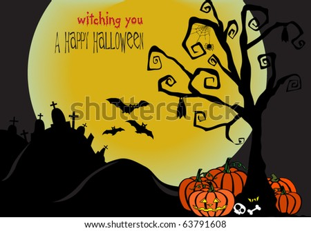 Creepy Halloween background