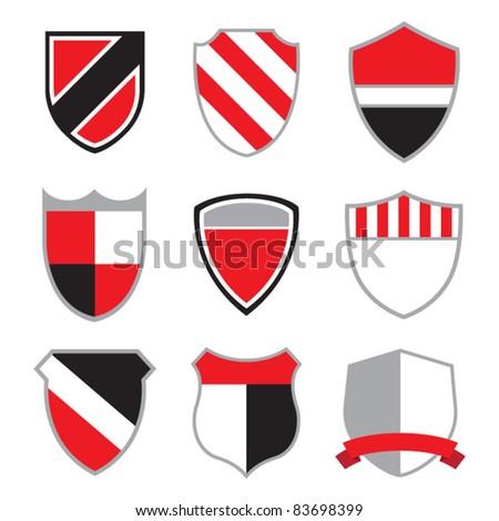 Crest Badges - stock vector