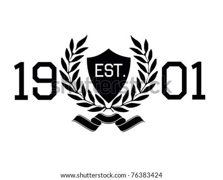 crest print - stock vector