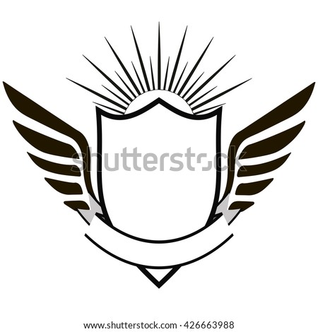 Crest Classic Design Elements Use Logo Stock Vector 426663988 ...