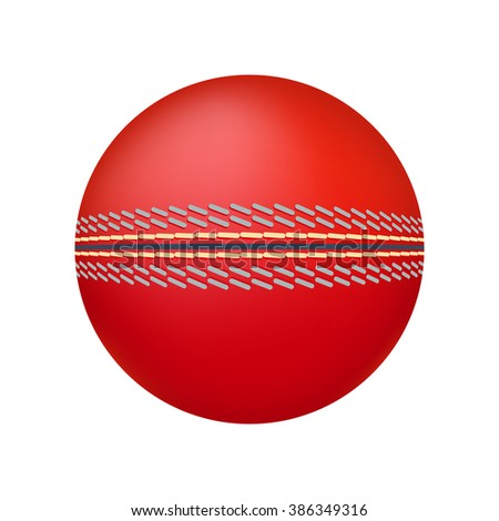 Cricket ball illustration isolated on a white background - stock vector