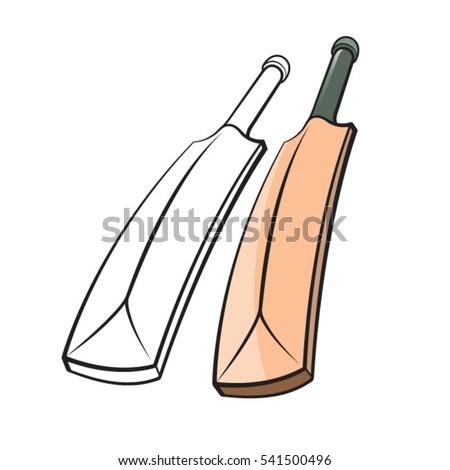 Cricket bat drawing