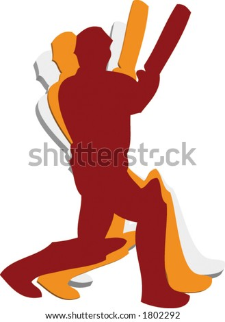 Cricket Sport Sign in Vector Format