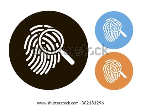Crime icon - stock vector