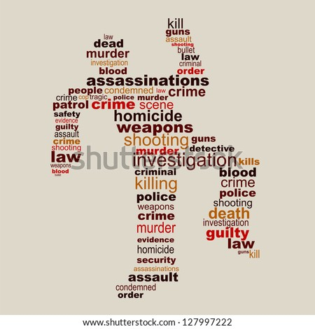 Crime scene concept poster - stock vector