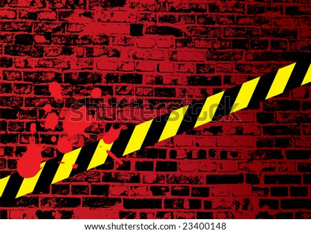 Crime scene with crossed Keep Out lines - stock vector