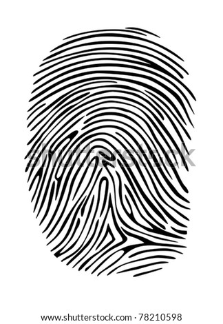Criminal fingerprint for detective, security or privacy design concepts. Jpeg version also available - stock vector