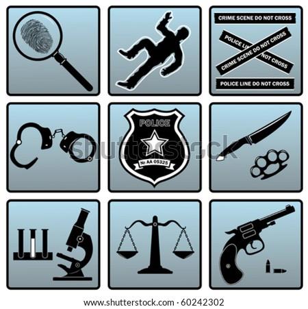 Criminal set - stock vector