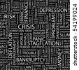 CRISIS. Seamless vector background. Wordcloud illustration. - stock photo