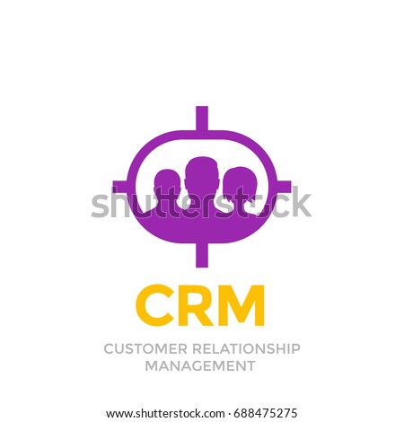 Crm Customer Relationship Management Icon Isolated Stock Vector