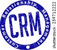 CRM (Customer Relationship Management) rubber stamp - stock vector