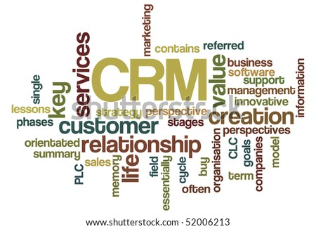 CRM - Word Cloud - stock vector