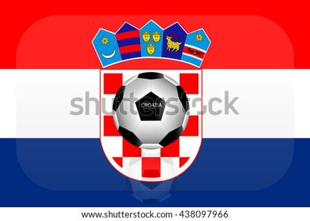 Croatia flag - stock vector