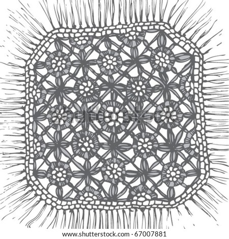 crochet lace - stock vector