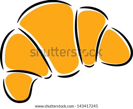 croissant clip art stock vector 2018 143417245 shutterstock rh shutterstock com croissant clip art free croissant clipart