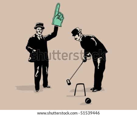 croquet game. - stock vector