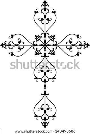 Cross christian - stock vector