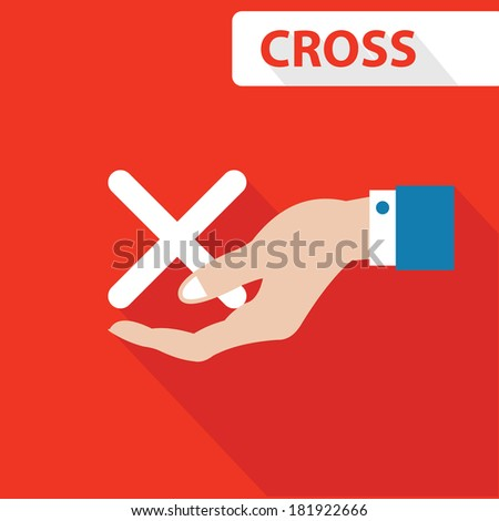Cross concept,vector - stock vector
