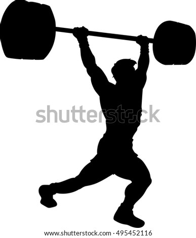 cross fit weightlifting silhouette
