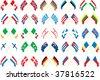 cross flags - stock vector