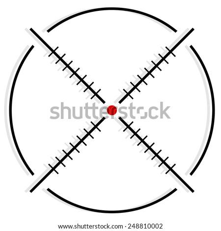 Cross-hair, reticle, target-mark graphics / symbol - stock vector