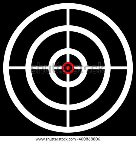 Red White Black Bullseye Target Crosshair Stock Vector 12045016 - Shutterstock