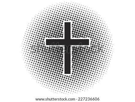 Cross halftone effect - stock vector