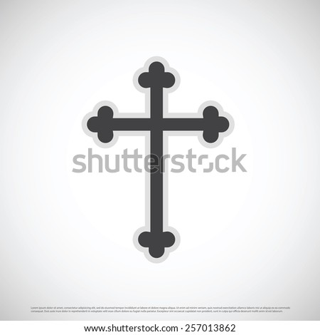 Cross icon design - stock vector