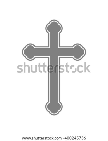 Cross icon - flat vector image. Simple black Christian Cross - vector illustration. - stock vector