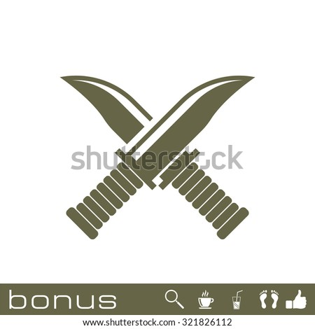 cross military knife icon - stock vector
