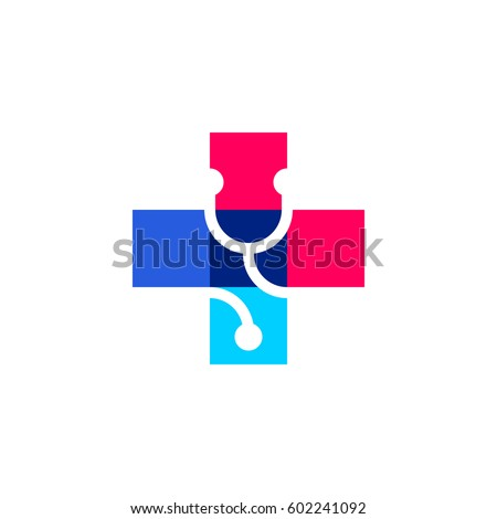 cross plus stethoscope medical vector logo stock vector 2018 rh shutterstock com medical logo vector download medical vector logo free