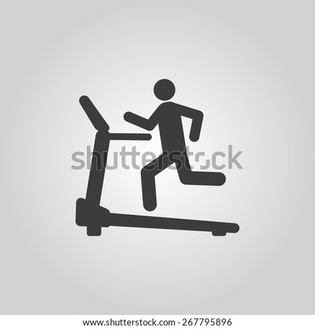 Cross trainer machine icon. Running symbol. Flat Vector illustration - stock vector