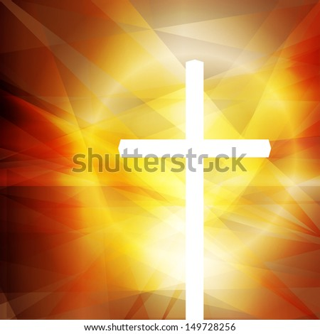 Cross vector abstract background concept - stock vector