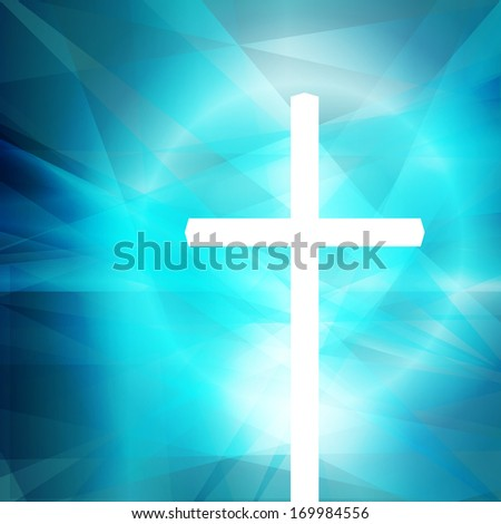 Cross vector abstract background concept template - stock vector
