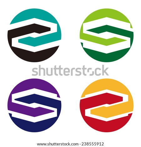 Cross vector design logo template. Round icon. You can use in the mobile, finance,biology, chemistry, science and other commercial image. S icon set.  - stock vector