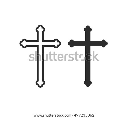 Cross Vector Symbol Church Cross Christian Stock Vector 499235062