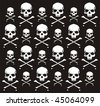 crossbones and skull pattern, individual objects very easy to edit - stock vector