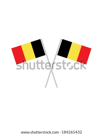 Crossed Belgium Flag - Vector - stock vector