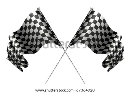 Crossed flags, 10eps - stock vector