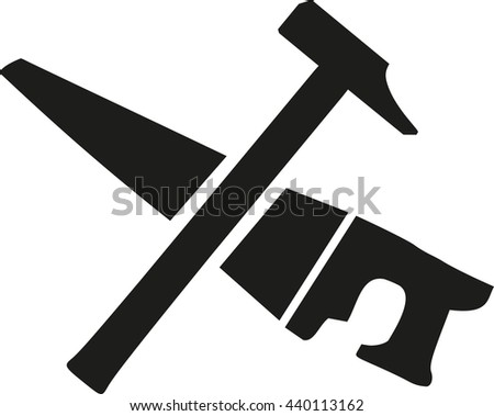 Hammer Icon On Red Background Stock Vector 608830325 ...
