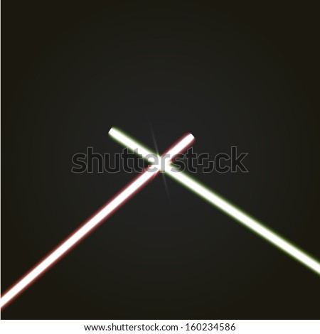 Crossed Lightsabers Light Crossed Light Sabers Stock