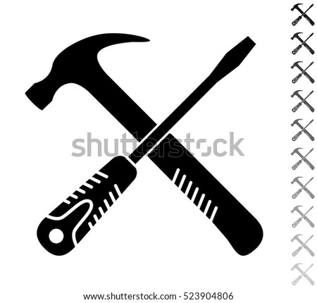 stock-vector-crossed-screwdriver-and-ham